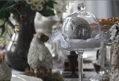 Decorative Easter Egg. In a glass bell jar on a stand. By Iwona Mierowska, I.M. Decorations See more inspirations at: https://www.etsy.com/shop/IMDecorations #Easter #Eastertide #house #interior #decor #decoration #inspiration #easteregg #belljar #jar