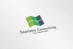 Statistic Consulting Logo Template by Fandysain Creative Shop on Creative Market