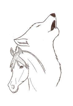 Wolf and Horse by gjokk.deviantart.com on @DeviantArt