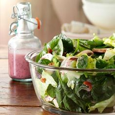 Spinach Salad with Poppy Seed Dressing Recipe -This salad has been a family…