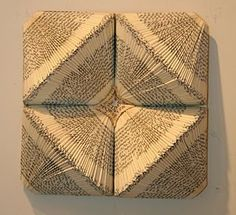 Folded Book sculpture - Love this!!