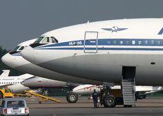 Aeroflot. Russia, retired from service since 2011 - Ilyushin IL-86, Russia's first wide body aircraft - via PJ de Jong