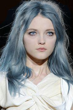 Resultado de imagen para blue eyes grey hair