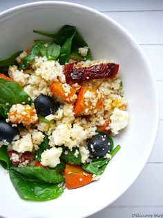 Kuskus salát Couscous, Healthy Recipes, Healthy Food, Tofu, Cobb Salad, Grains, Salads, Sandwiches, Food And Drink