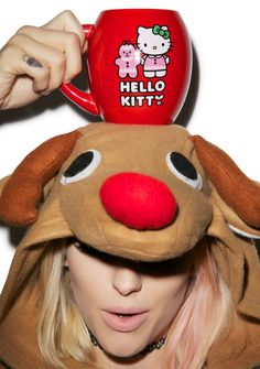 Hello Kitty Holiday Oval Ceramic Mug Boy London, Deck The Halls, Lime Crime, Your Favorite, Ronald Mcdonald, Gingerbread, Hello Kitty, Kawaii, Ceramics