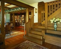 tropical craftsman traditional staircase - by Gardner Mohr Architects LLC - photo credit: Alan Karchmer