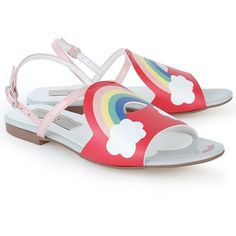 Stella McCartney Kids Rainbow Detail Sandals