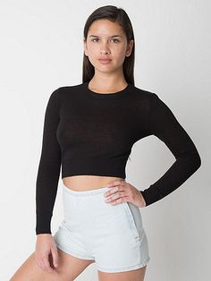 Simple and versatile cropped knit sweater with endless ways to wear.