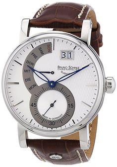 Bruno Söhnle Pesaro I 17-13073-283 - Reloj para hombres, correa de cuero color marrón