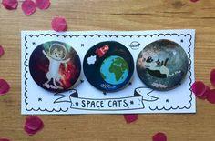 Chapas espaciales de TatyMiau en Etsy