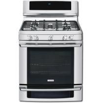 """Electrolux - 30"""" Self-Cleaning Freestanding Liquid Propane Gas Convection Range - Stainless-Steel"""