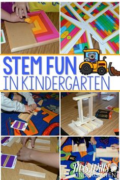 STEM Fun in Kindergarten ~ Giveaway STEM fun in kindergarten is easy with these open-ended exploration activities. Students explore spatial relationships as they engineer their own designs. Kindergarten Stem, Kindergarten Lesson Plans, Homeschool Kindergarten, Homeschooling, Preschool Learning, Fun Learning, Cultura Maker, Stem Science, Earth Science