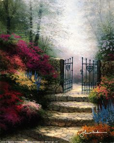 Garden Of Promise by Thomas Kinkade, my favorite painting by my favorite artist. So sad his life ended as it did!