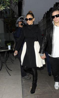 Jennifer Lopez and Casper Smart head to dinner at the Charlote Street Hotel London. 10-23-2012
