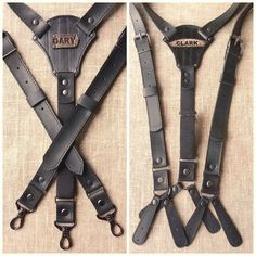 Leather suspenders Personalized Personalized Gifts For Men Suspenders Wedding Suspenders Mens Braces For Grooms Leather suspenders Handmade Groom Suspenders, Leather Suspenders, Cowhide Leather, Calf Leather, Mens Braces, Personalized Gifts For Men, Leather Projects, Vegetable Tanned Leather, Leather Working