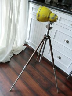 The Tripod Flood Lamp  Vintage Mid Century  by creativecultivations