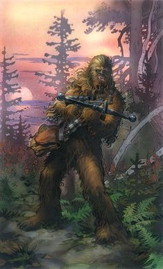Star Wars Illustrations by Terese Nielsen /// Chewie