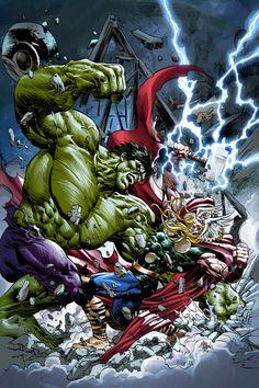 THOR vs HULK by Summerset.deviantart.com on @deviantART