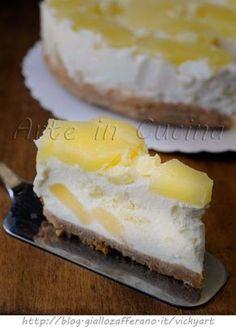 Torta all'ananas fredda con cioccolato bianco vickyart arte in cucina
