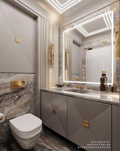 Classic Bathroom, Modern Bathroom, Master Bathroom, Luxury Toilet, Marble Tile Bathroom, Bad Styling, Vanity Design, Bathroom Design Luxury, Toilet Design