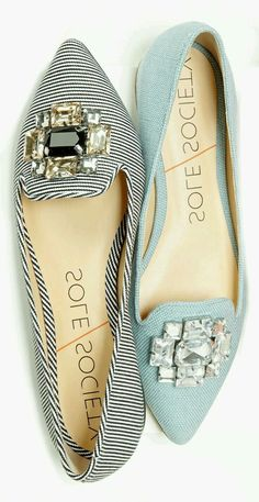 Jeweled flats…perfect for the office - Shoes New Style - Luxury Shoes -  Shoes New Style - Luxury Shoes