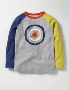 MJuan-clothing New Childrens Blue Square Long Sleeve Print T-Shirt Childrens Clothes