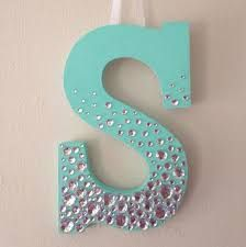 Image result for wooden monogram letters decor with pearls