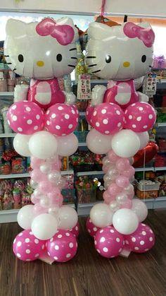 más y más manualidades: Aprende cómo hacer una columna de globos para fiestas