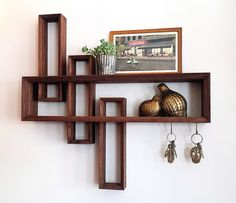 Brass and Bark curio shelf