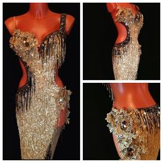 Gold dress Latin. How do you feel about fringe?  #danceRAL