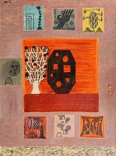 """HANNU VÄISÄNEN, """"SEITSEMÄN KUOLEMANSYNTIÄ"""".. - modern + contemporary, Helsinki F164 – Bukowskis Art, Modern Art, Painter, Auction"""