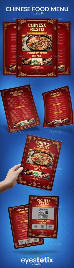 #Chinese #Food #Menu - Food Menus Print Templates