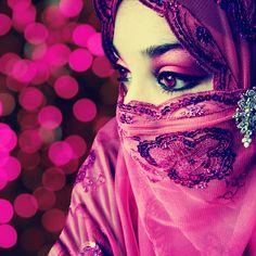 Eyes makeup inspiration - #pink #arabian #eyes #makeup
