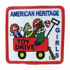 AHG Activity Patches: After all the hard work collecting all the toys for those less fortunate, reward your AHG girls with a patch to wear proudly on their uniform.
