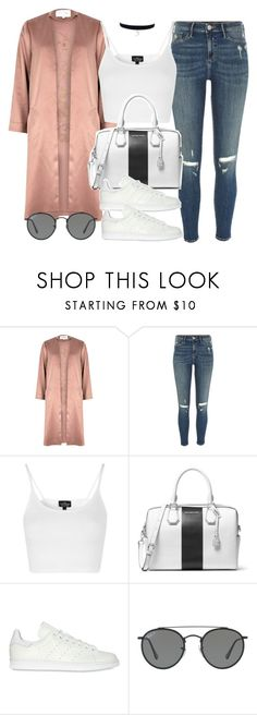 """Sin título #12080"" by vany-alvarado ❤ liked on Polyvore featuring River Island, Topshop, MICHAEL Michael Kors, adidas Originals and Ray-Ban"