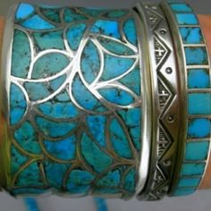 Turquoise and Silver turquoise-jewelry. i would sleep in this bracelet!
