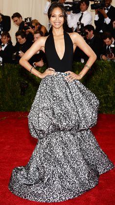 2014 Met Gala Red Carpet - Zoe Saldana in Michael Kors from #InStyle