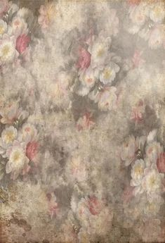 Vintage Floral White Red Flowers Photo Booth Backdrop GA-58 – Dbackdrop