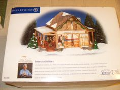 "New Dept 56 Snow Village Lighted "" Timberlake Outfitters"" 