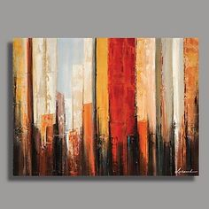 Hand-Painted Abstract One Panel Canvas Oil Painting For Home Decoration 2018 - ₪234.78