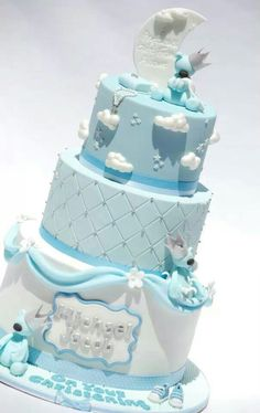 One of the sweetest Baby Boy cakes I've ever seen. Gorgeous work by Royal Bakery.