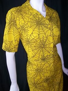 1940s spider web print dress, Dorothea's archives