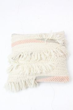 """Handwoven by artisans in India, back zip enclosure, insert Included. 18"""" x 18"""""""