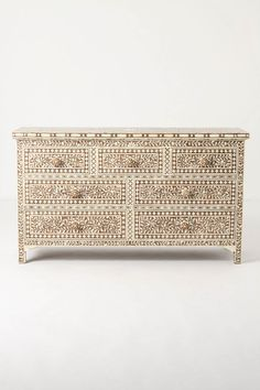 ivory bone inlaid chest of drawers ~ anthropologie ~ furniture
