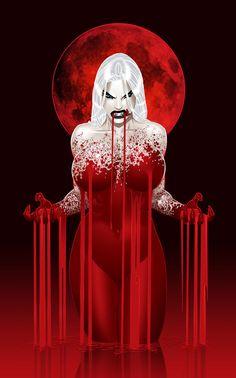 VAMPERE~RED VAMPIRE MOON by justinblong on deviantART