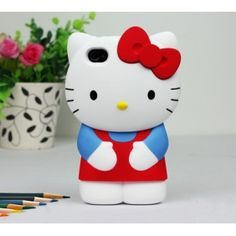 $6.00 Hello kitty 3-d iphone case 4 4S Sale Apple iphone protection Cover esaledeal.com