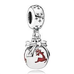 Dangle Christbaumkugel Pandora 925er Silber 791768EN07 http://www.thejewellershop.com/ #charms #pandora #charm #silber