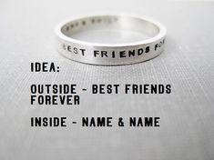 Freundschaftsringe best friends  Best Friends Ring Stainless Steel Two Piece Ring Set | Freund ...