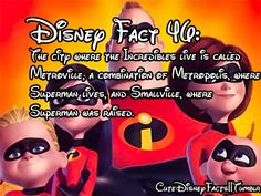 Cute Disney Facts. Superman for the win!!