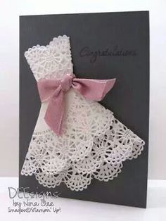 Stampin up lace dress card